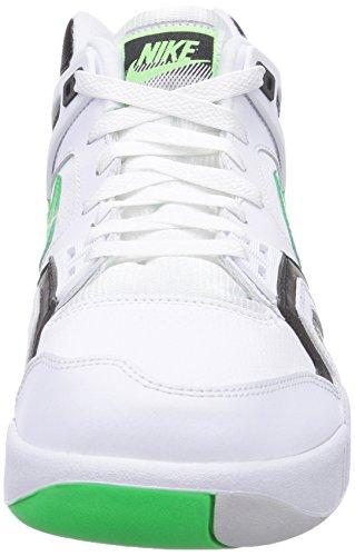 Nike Air Tech Challenge Ii, Chaussures de tennis homme Blanc (White/Psn Grn-Blk-Lght Ash Gry)