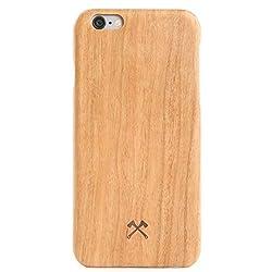 Woodcessories - Hülle, Case kompatibel mit iPhone 6 Plus, iPhone 6s Plus, EcoCase Slim (Kirsche)