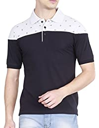 Fanideaz Men's Cotton Anchor Printed Polo T Shirts For Men With Collar