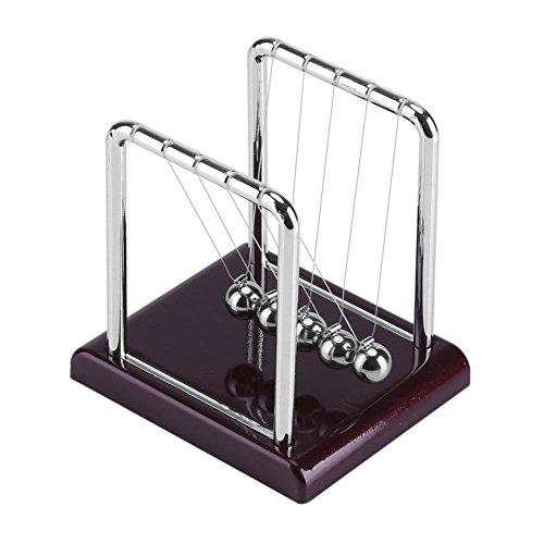 Newton Kugelstoßpendel Newtons Wiege mit Balance schwingenden Magnetkugeln Lustige Pendel Stahlkugel Schreibtisch Spielzeug Schreibtisch Dekoration