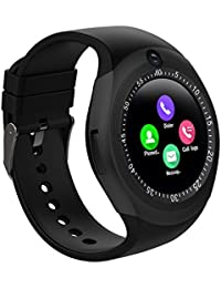 Lens Y1s Bluetooth Smartwatch With SIM Card Slot And Camera Support For Android And IOS Smartphones (Black)