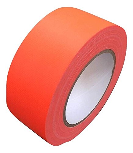 Neon Klebeband matt Orange fluoreszierend 50mm x 50m Gaffa Tape UV Duct Tape