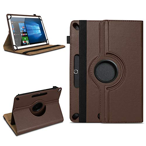 Tablet Tasche für 10 - 10.1 Zoll Hülle Schutzhülle Case Cover 360° Drehbar Neu, Farben:Braun, Modell:Acepad A96