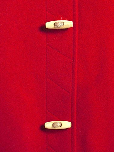 Donna-Caban in lana, Made in France DALMARD Olympie marino, colore: rosso Rosso