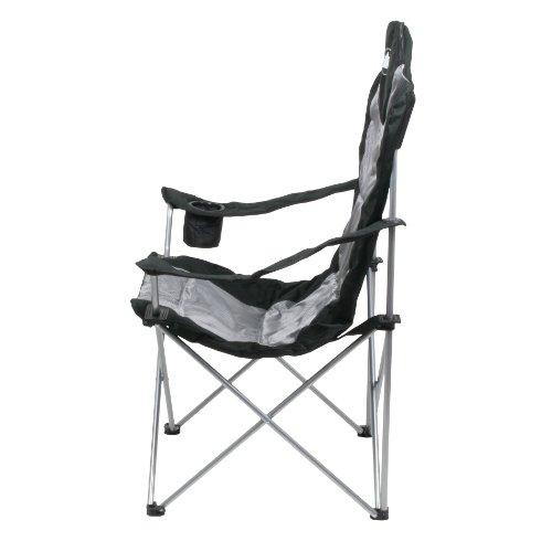 10T Lightboy - Faltbarer XXL Camping-Stuhl mobiler Hochlehner Maxi Polster-Sitzfläche Getränkehalter - 4