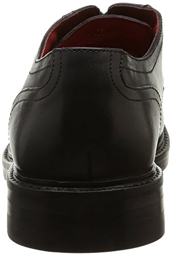 Base London Brooksby, Derby homme Noir (Waxy Black)