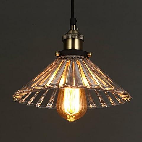 ONEPRE Vintage Modern Glass Hanging Lighting Pendant Light for kitchen