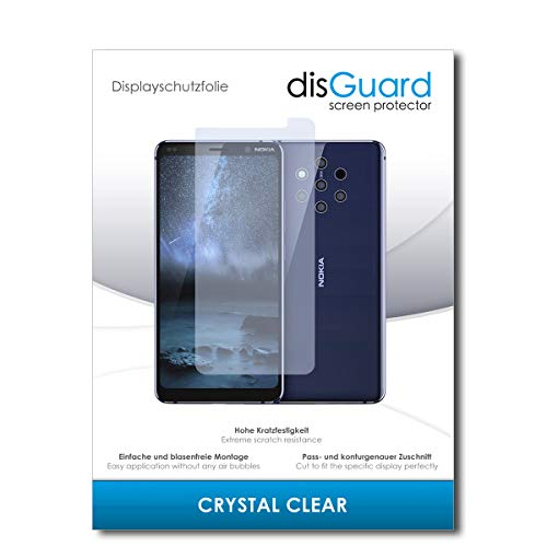 disGuard® Pellicola Protettiva [Crystal Clear] Compatibile con Nokia 9 PureView [2 Pezzi] Cristallino, Transparente, Invisibile, Ultra Resistente, Effetto Anti-Impronte - Proteggi Schermo