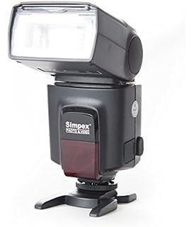 SIMPEX 522 Manual Shoe Mount Flash for DSLR Cameras  Black