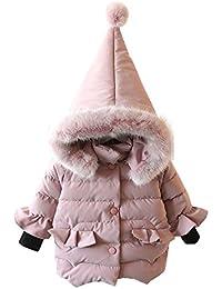 Abrigo acolchado para bebé con pelo en capucha,Yannerr niñas niños abajo chaqueta otoño invierno cálido ropa
