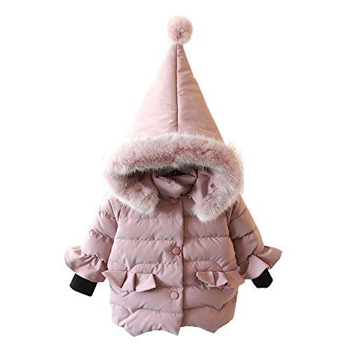 Mbby Cappotto di Piumino Bambina, 0-5 Anni Invernale Capispalla per Ragazze con Cappuccio in Cotton Caldo Leggero Addensare Antivento Giacche Imbottito Giubbotti