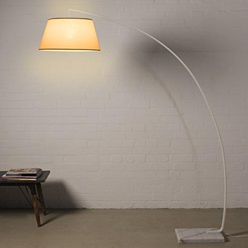Lampada da terra 185cm bianco lampada ad arco in marmo metallo design moderno lampada da soffitto