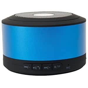 Emartbuy® Blue Compact Portable Super Bass Wireless Bluetooth Speaker With Handsfree Suitable for Prestigio MultiPhone 5400 Duo