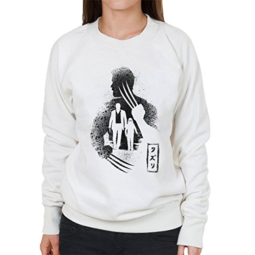X Men Wolverine Logan Ten Claws Women's Sweatshirt white