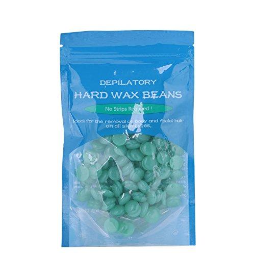 Enthaarungs Wachs Bohne, Sanfte Leistungsstarke Schnell und Effektiv Haarentfernung Wachs 50 gr/beutel(Grüner Tee)