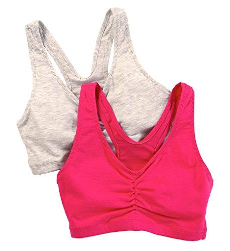 Hanes Comfortflex Fit® Soutien-gorge Comfortblend Heather Grey/Fuchsia Purple