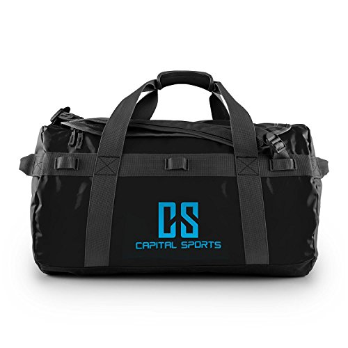 CAPITAL SPORTS Journ M - Sporttasche, Umhängetasche, Rucksack, 60 Liter, wasserabweisend, Reißverschluss, überlappende Verschlusslasche,...