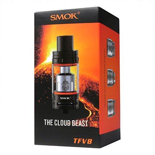 "SMOK ""Cloud Beast"" TFV8 Clearomizer bis 6 ml, 24.5 mm Durchmesser, blau, 1 Stück"