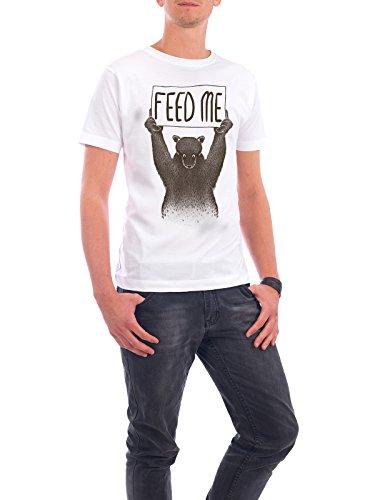 """Design T-Shirt Männer Continental Cotton """"Feed Me Bear"""" - stylisches Shirt Tiere von Tobe Fonseca Weiß"""