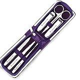 Nagel Set Nagelknipser Set Dekoration Fußpflege Werkzeug schwarz Herren Beauty Set PU Leder Reisen (Color : B)
