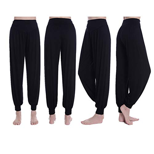 Yogahosen Herbst Und Winter Modal Harem Hosen Frauen Sporthose Square Dance Kostüm Lose Hosen,Black,XXXL (Square Hose Kostüm)