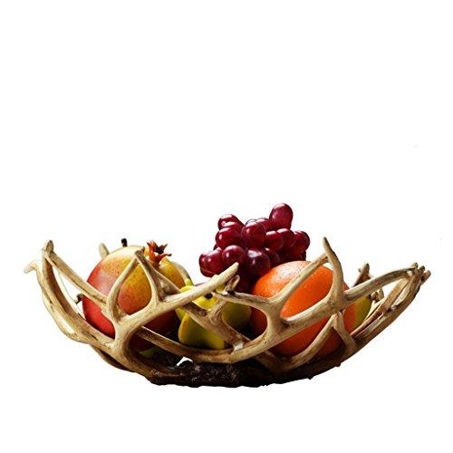 Mffacai forma del ramo corna vassoio ciotola da frutta resina decorazioni per la casa arredi artigianali regalo di natale 34 * 13 * 13 cm
