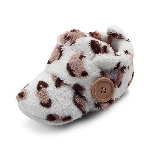 HDUFGJ Babyschuhe Weiche Sohle Kinderschuhe Taufschuhe Lauflernschuhe Taufe Schuhe Babyschuhe 9-12Month(Braun)