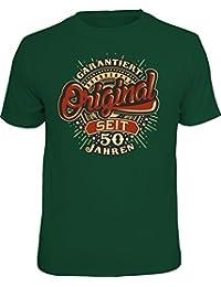 Das T-Shirt in der Geschenk-Box Zum 50. Geburtstag: Garantiert Original Seit 50 Jahren