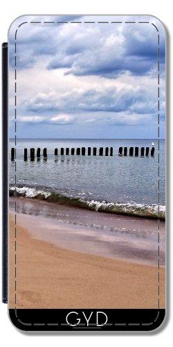 Preisvergleich Produktbild Leder Flip Case Tasche Hülle für Apple iPhone 7 Plus / 7S Plus - Ostsee by Helsch1957