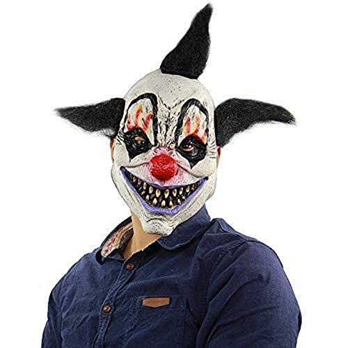 NA Maske Maskerade Prom Maske Hllpg Halloween Clown Dämon Zauberer Terrorist Latex Maske Horrible Supplies Outdoor Süßes oder Saures für Kostüm Maskerade Party Cosplay Haunted - Süßes Oder Saures Kostüm