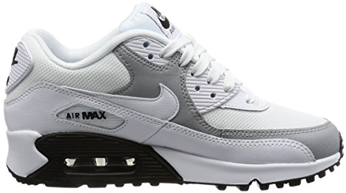 Nike Damen Wmns Air Max 90 Sneakers, Elfenbein (White/White/Wolf Grey/Black), 40 EU - 6