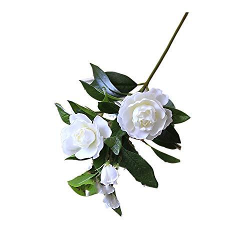 Blume Wasser Gardenia (Kunstblumen & -Pflanzen/Blumen Gardenia Flowers Artificial Silk Bouquets, die Inneneinrichtung Wedding sind (Farbe : Weiß, Größe : Einheitsgröße))