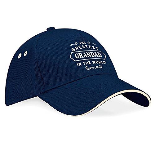 """Geburtstagshut, Großvater - Geburtstagsgeschenk, für Herren """"Worlds Coolest Grandad"""", Baseballkappe, Textil, navy, einheitsgröße"""