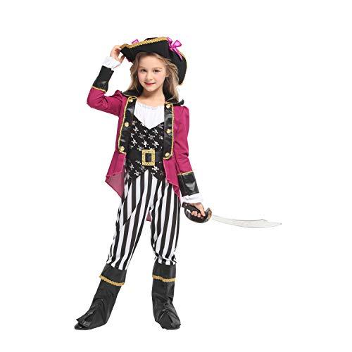 Piraten Weiblich Kostüm - Halloween Kostüm Weibliche Maskerade Performance Kostüm Piraten Kostüm COS Prinzessin Kleid Kinder Halloween Kostüm Mädchen Jungen Halloween Cosplay Kleid Kostüm 4-12 Jahre Für Mädchen ( Größe : L )