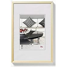 walther design AJ520G Chair, cornice di alluminio 15x20 cm, oro