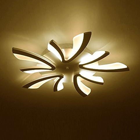 Elegante Deckenlampe Mit Leucht   Armen Und LED   Lichtleisten U2013 Designer  Lampe Mit Warmweißem Licht U2013 Wohnzimmerlampe Aus Metall Um Deckenleuchte ...
