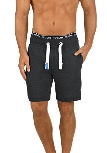 !Solid BennShorts Herren Sweatshorts Kurze Hose Jogginghose mit Fleece-Innenseite und Kordel Regular Fit, Größe:XXL, Farbe:Dark Grey Melange (8999)