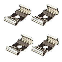4 x Montageklammern für LED Profil-42 Klammer Befestigung Befestigungsmaterial Aluprofil Profilleiste Aufbauprofil von SO-TECH®