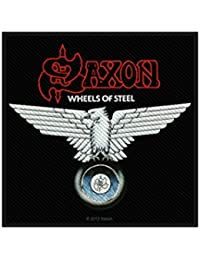 Saxon–Parche–Wheels of Steel–Saxon–Patch–tejida & licencia oficial..