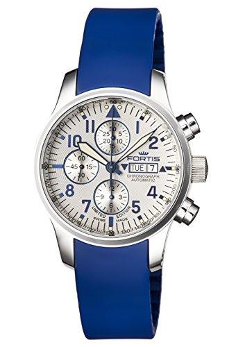 Fortis Men's 701.20.92 SI.05 F-43 FLIEGER CHRONOGRAPH  Analog Display Automatic Self Wind Blue Watch