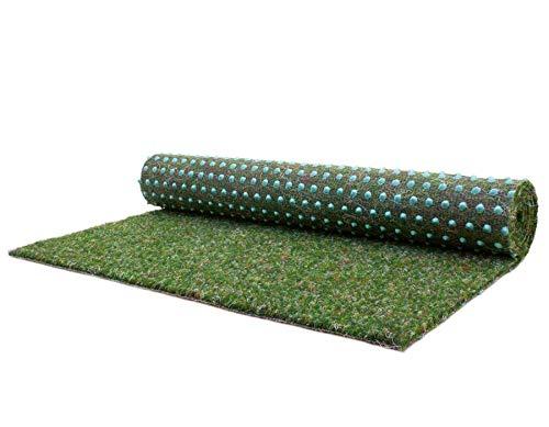 Tapis Gazon Artificiel GREEN avec Picots de Drainage -...