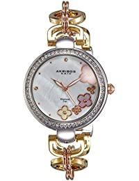 Akribos XXIV Reloj con movimiento cuarzo japonés  Plateado / Dorado 36 mm