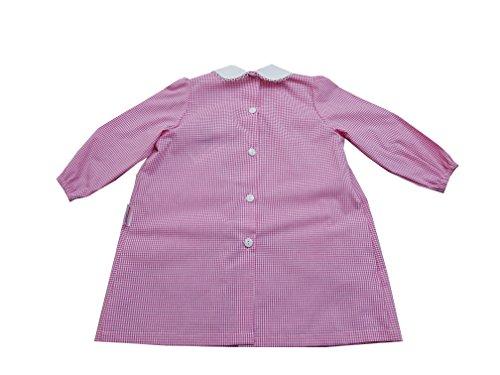 Grembiule asilo nido per bambina (art. hn301s) (quadri rosa, taglia 24 mesi)