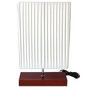 Grundig Tischlampe Tischleuchte mit Holzfuss Stehlampe Stehleuchte