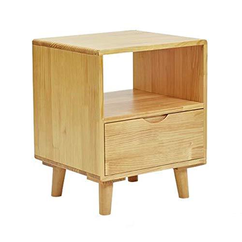 Tables CJC Côté Nuit, en Bois Chevet Tiroir avec Étagère, Cabinet Stockage Unité, Enfant Chambre (Couleur : One Drawer)