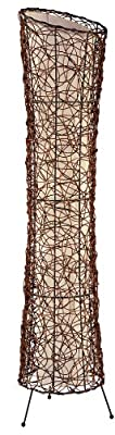 Nino Leuchten Stehleuchte Ruth / Höhe: 120 cm , Durchmesser: 25 cm / Rattan, innenliegender Stoffschirm / 2-flammig 40020243 von Nino Leuchten GmbH auf Lampenhans.de