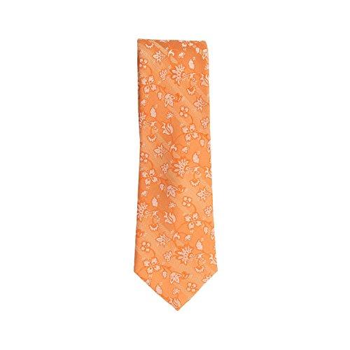 Silk Ties classico cravatta seta arancione floreale 7