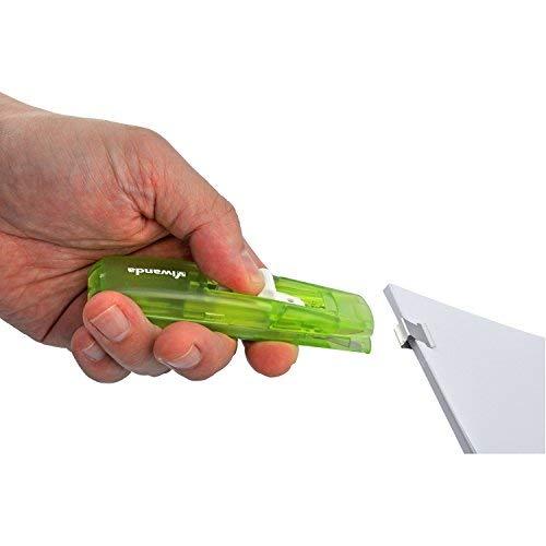 Paper Clipper Spara-Mollette per lufficio e gli studenti Eric Arancione Viwanda Includere pacchetto dotato di 100 mollete taglia 6.4 mm Clip Dispenser Fast Clam Clip Stapler Fermaglio Cucitrice