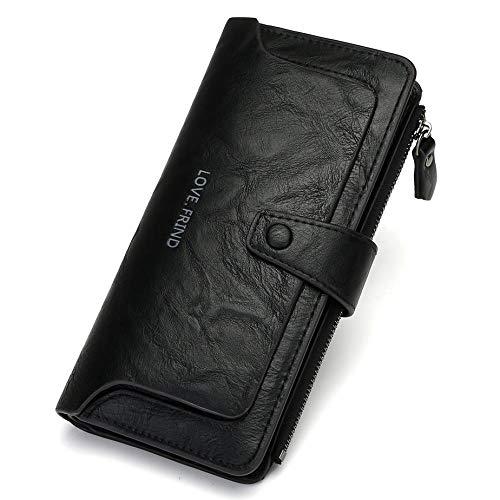 Fyyzg Neue Retro Brieftasche Europa und die Vereinigten Staaten Mode Magie zweifach Lange Damen - schwarz
