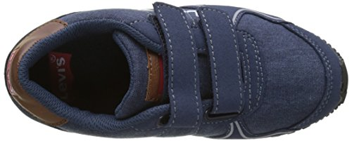 Levi's Stanford Velcro, Baskets Basses Garçon Bleu (Navy)